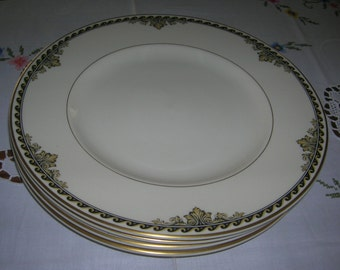 2 Vintage Syracuse Old Ivory China Athena Pattern Dinner Plates