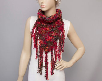 Knitted  scarf ,woman scarf ,multicolor