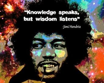 """Jimi Hendrix, """"Wisdom Listens"""" small shirt"""