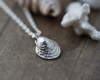 Sea Shell Necklace, Sterling Silver Necklace, Mermaid SeaShell Necklace