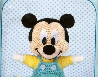AD06- English written translated, Crochet Baby Mickey Mouse, Disney Amigurumi, Japanese pattern