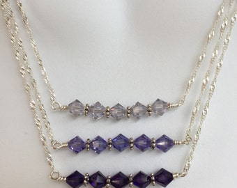Crystal bars necklace