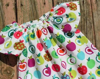 Fall 2016 Girl's Infants Toddlers Harvest Apples Peasant Dress