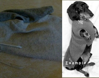 Cashmere Custom made to measure dachshund sweater jumper cozy warm soft handmade pets clothing