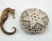 Crochet Stone Pattern, DIY, Lace Stone Cover Pattern, Crochet Rock Pattern, SeaStar, Beach house decor, Tabletop decor, bowl element