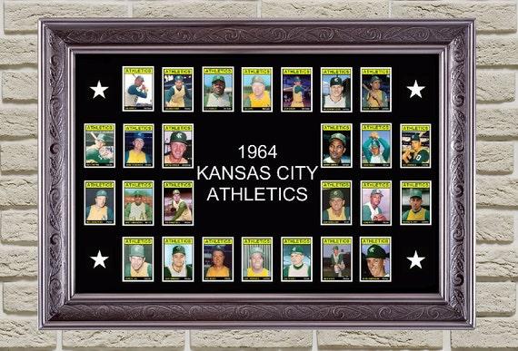 Man Cave Decor Store Kansas City : Kansas city athletics baseball poster by bobbleheadcity