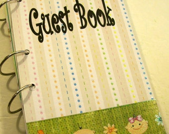 Guest Book, Baby Shower Guest Book,  Sign in Book,  New Mom Advice Book,  Baby Girl,  Baby Boy,