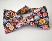 Freestyle Floral Bowtie- Self Tie Floral Bowtie