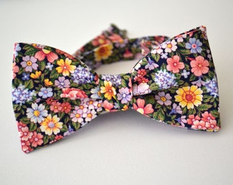 Freestyle Floral Bowtie- Self Tie Floral Bowtie- Reserved for Alex