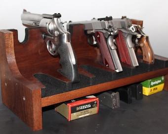 Handcrafted Handgun Storage/Display Rack