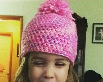 Crochet Puff Top Simple Beanie