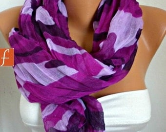 Purple Camouflage Scarf,Fall Shawl Cowl Scarf Shawl Scarf Lavender Gift Ideas For Her Women Fashion Accessories Christmas Gift