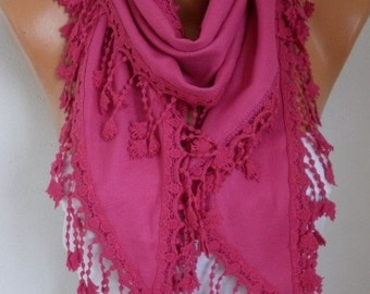Hot Pink Pashmina Scarf Christmas Gift Winter Accessories Cowl Shawl Bridal Accessories Gift Ideas For Her Women Fashion Accessories Scarves