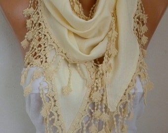 OOAK SCARF, Yellow Pashmina Scarf, Fall Winter Accessories, Shawl, Cowl Scarf Bridesmaid Gift For Her Women's Fashion Accessories