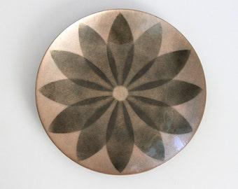 Enamel Plate - Annemarie Davidson Enamel Plate - Sierra Madre California - Enamel Wall Decor