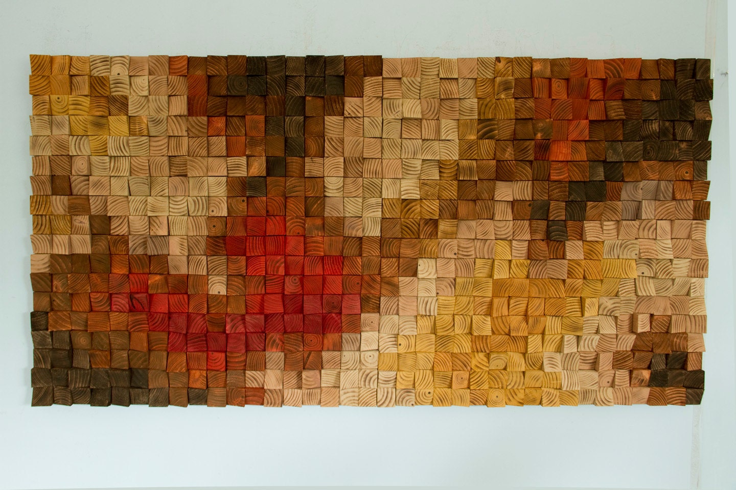 Large Wood Wall Art Part - 37: Large Rustic Wood Wall Art, Wood Wall Sculpture, Abstract Painting On Wood