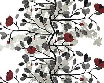 Cotton Fabric By Yard- Magnolia Blossom- Scandinavian Design- Professional Print- For Curtains, Roman Blinds, Pillow covers etc.