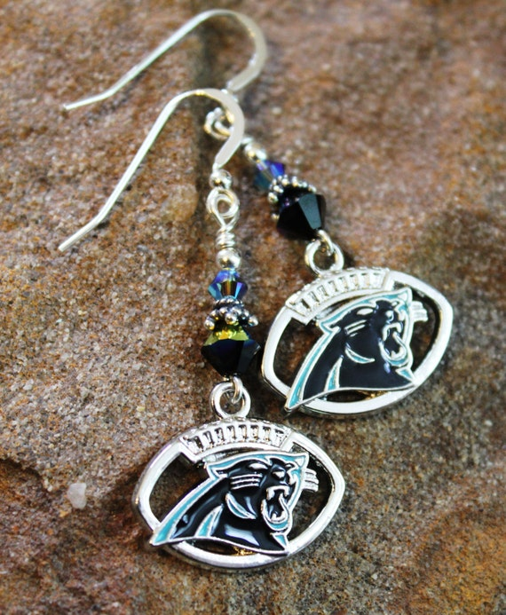 carolina panther jewelry caronlina panthers sterling earrings panthers jewelry 4461