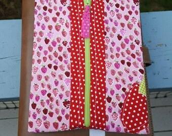 Journaling planner organization Bandbag an original Sunshinenellie Pattern Small so sweet  Strawberries pattern