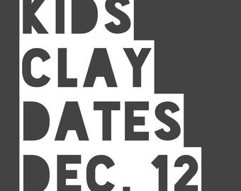 Clay Dates @ Tasha Biggers Pottery: Monday, Dec. 12, 2016, 10 am to noon