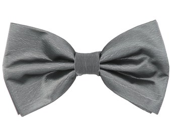 Men's Chintz Gray Pre-Tied Bowtie, for Formal Occasions