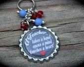 Personalized Teacher Keychain - Teacher Appreciation - Inspire - Education - End Of School - Teacher Gift - School - Mentor -