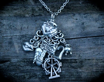 Children Of The Alliance Charm Necklace - Shawn Reilly - Bug - Spun - Author Swag - Urban Fantasy - Paranormal - Book Lover Jewelry - Fandom