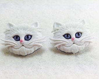 Cat Earrings, Kitty Earrings, Cat Lover Earrings, Animal Earrings, Cat Stud Earrings