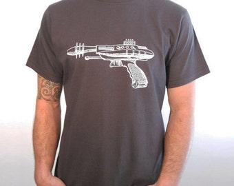 Clearance Medium SALE Ray Gun T-Shirt -Asphalt Sci Fi T-Shirt