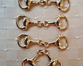 4 Gold or Silver Tone Extra Small Snaffle Bits