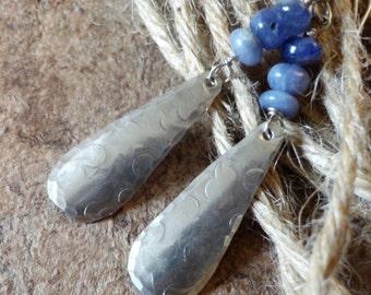 Tanzanite Earrings: Sterling Silver & Tanzanite Earrings, Dangle Earrings, Teardrop Earrings