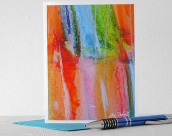 Rainbow Art Watercolor Card // Printed Art Notecards
