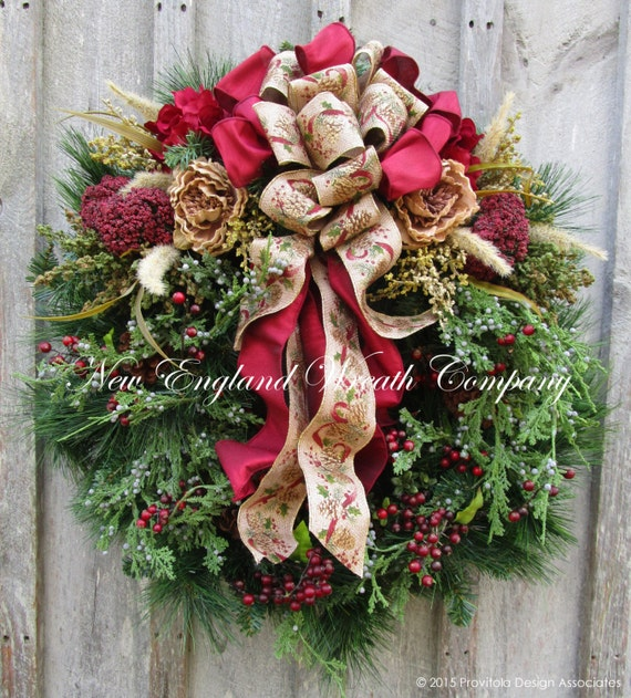 Christmas Decorations In Victorian England: Christmas Wreath Holiday Wreath Winter Wreath Victorian