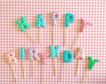 Happy Birthday Letters for Cakes or Cupcakes