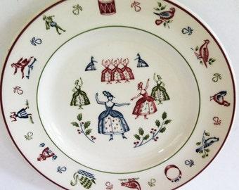 Twelve Days of Christmas Nine Ladies Dancing Salad Plate by Johnson Brothers