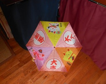 HELLO KITTY  Little Girl's  vintage Japanese Umbrella Parasol  see dimensions below