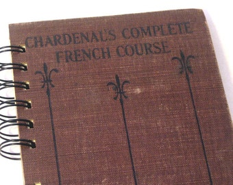 1929 FRENCH JOURNAL Handmade Journal Vintage Upcycled Book France Travel Journal