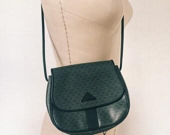 Vintage 1984 Liz Claiborne Shoulder Bag / 80s Liz Claiborne Purse / Charcoal and Black