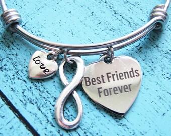 bff gift, moving away gift, best friend bracelet, going away gift, friendship gift, gift for best friend, sister gift, best friends forever