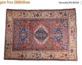 10% OFF RUGS 4.5x6.5 Antique Karaja Rug