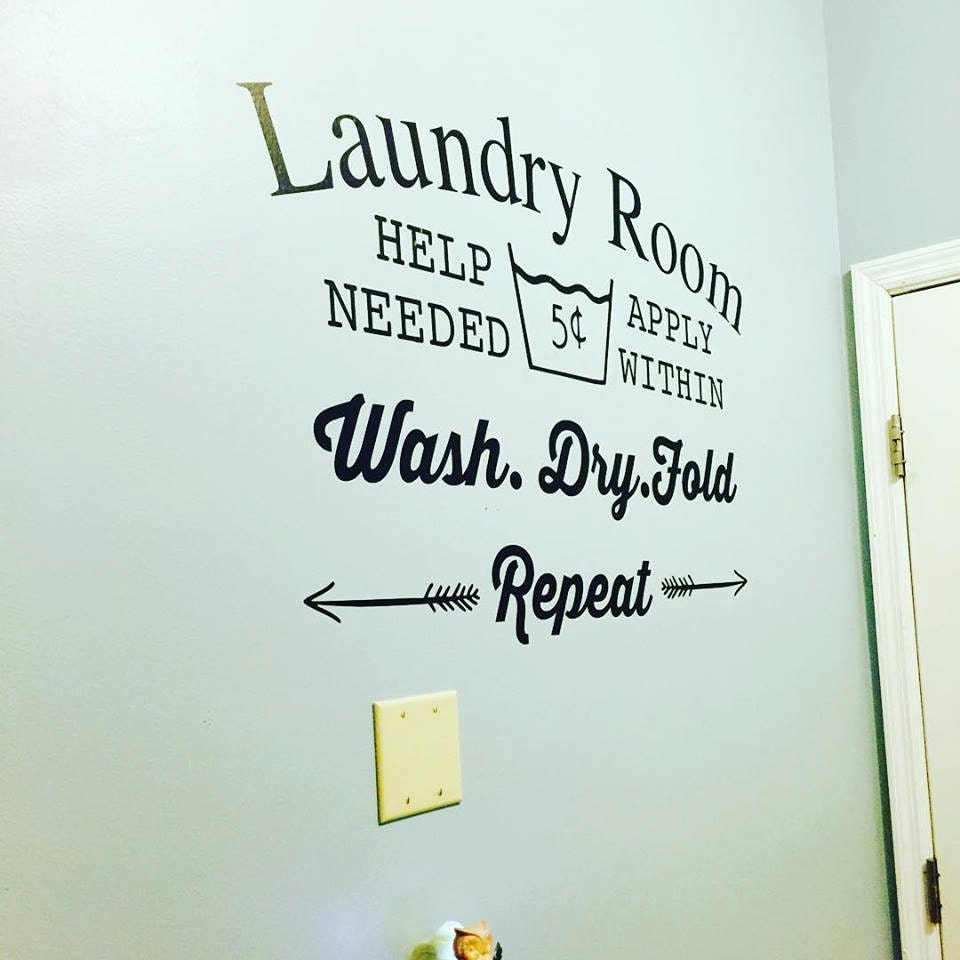 Laundry Room Wall Decal Wall Decor Laundry By Shaelaraedesigns