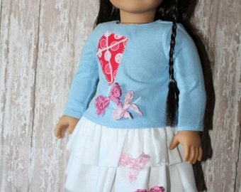American Girl Kite Tails , top and skirt set