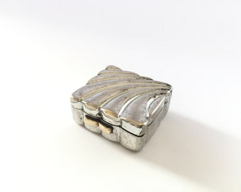 Vintage Rouge or Lipstick Compact Volupte High Tide Tiny Silver Box