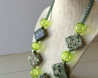 Ocean Memories Beaded Necklace Gifts for Her Venetian Glass and Stone