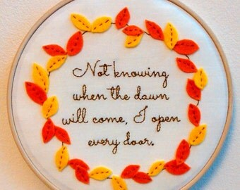 Inspirational Quote Hoop Art. Emily Dickinson. 7 inch. Perfect gift!