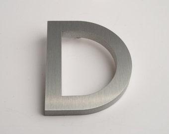 Modern House Numbers Aluminum Modern Font Letter D