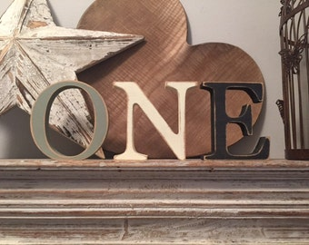 Hand-painted Wooden Letters - Georgian Font - Various sizes, finishes and colours