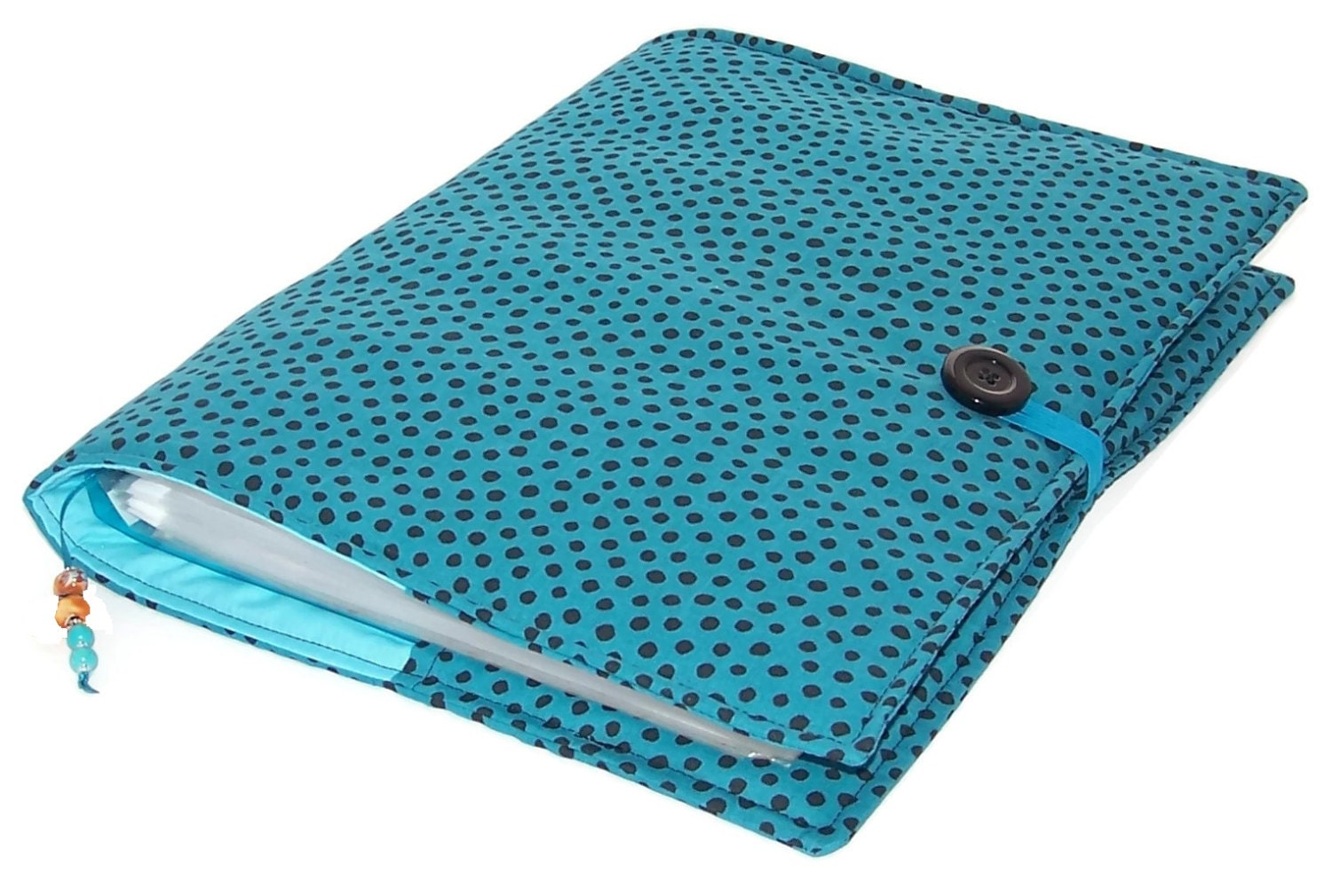 Ring Binder File Cover Dotty Teal For A4 Files Or Us Letter