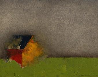 Original Painting Oil - 5 x 7 - Anthracite