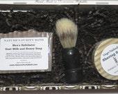 Ginger Patchouli Cigar Box Deluxe Shave/Shaving Set Kit - Rosado Sungrown Puck